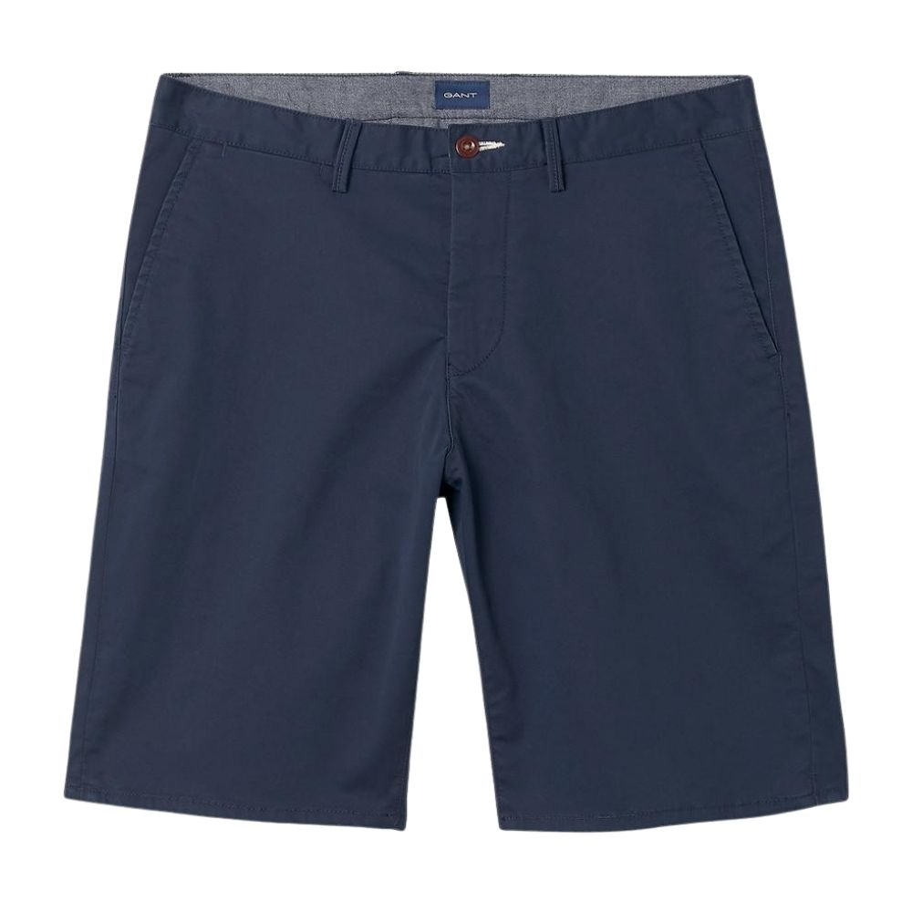 GANT Relaxed Twill Short Marine Blue front