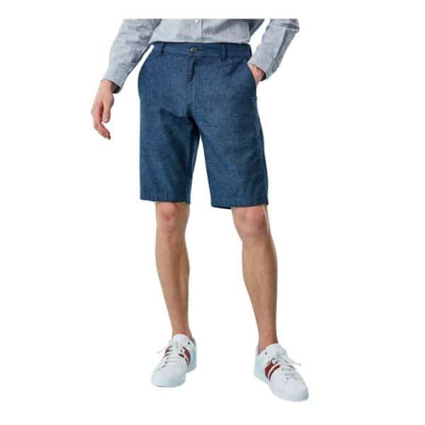 Giordano Blue Linen shorts 2