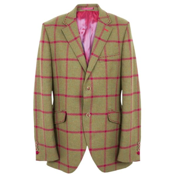 HOLLAND ESQUIRE CLASSIC BLANKET CHECK JACKET
