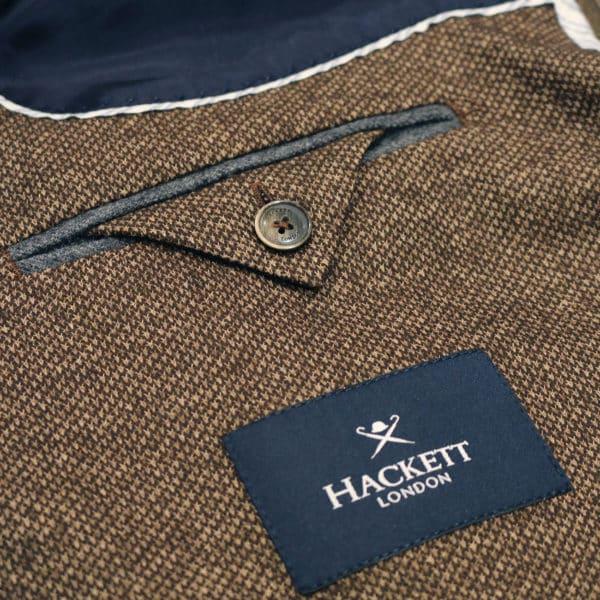 Hackett blazer bronze pocket detail