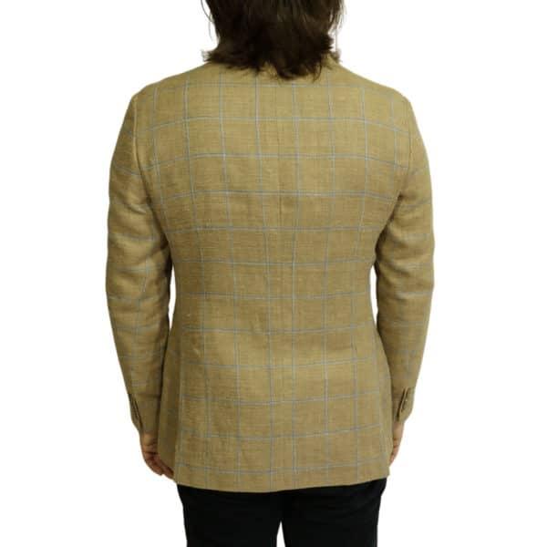 Hackett check blazer jacket sand