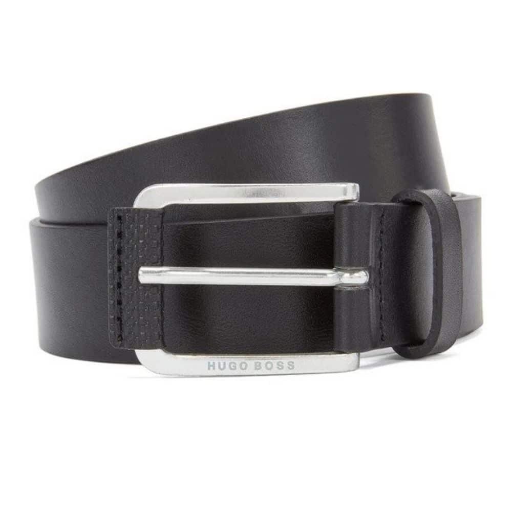 Hugo Boss Jory Black Leather Belt