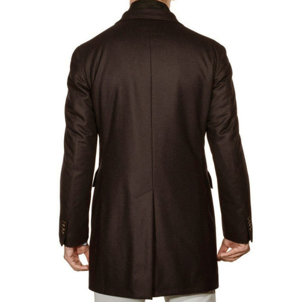 Lubiam Overcoat with insert brown back