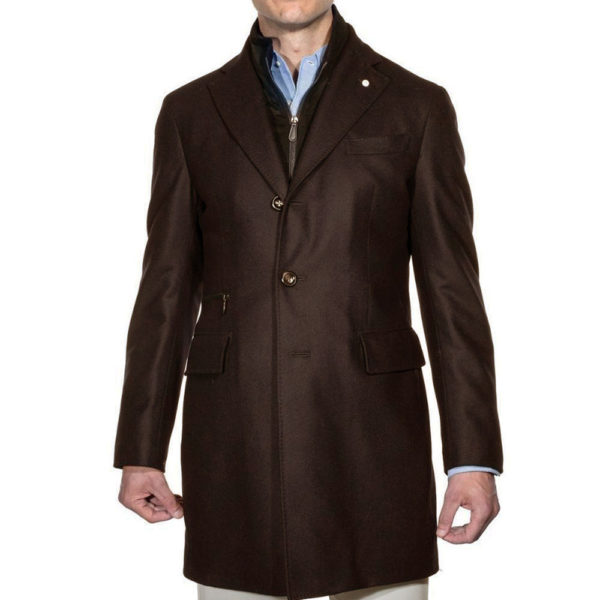 Lubiam overcoat front brown