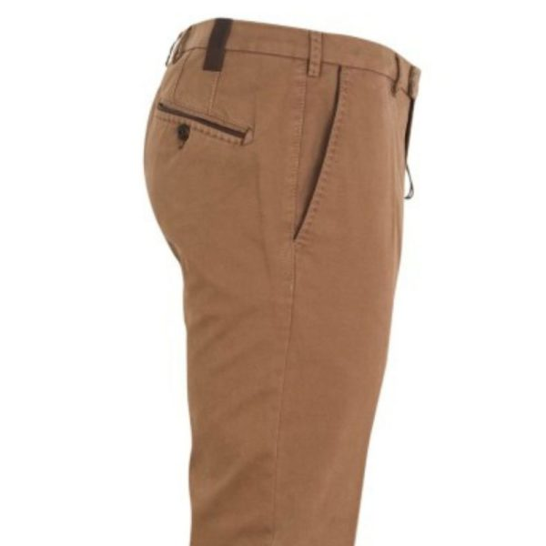 MMX LYNX Cotton and Cashmere Camel Chinos Side 1