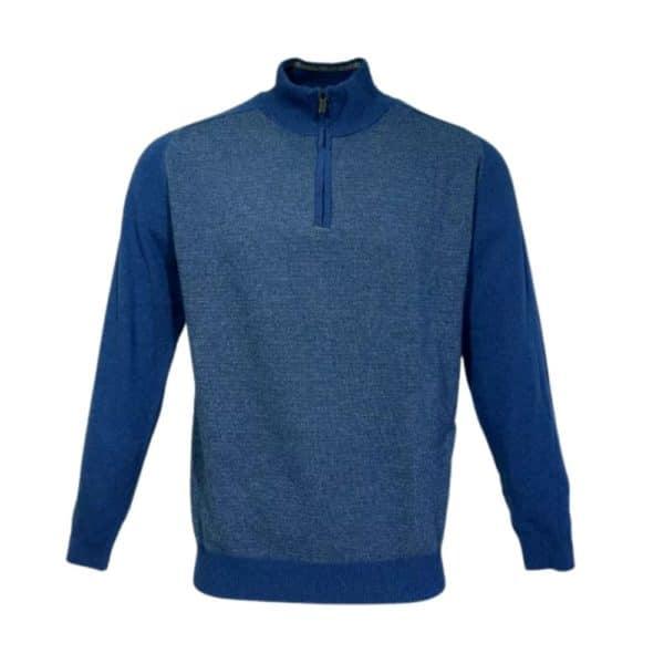 Massimo Boni Half zip blue front