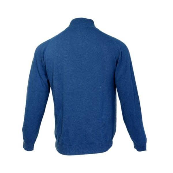 Massimo Boni half zip blue back 1