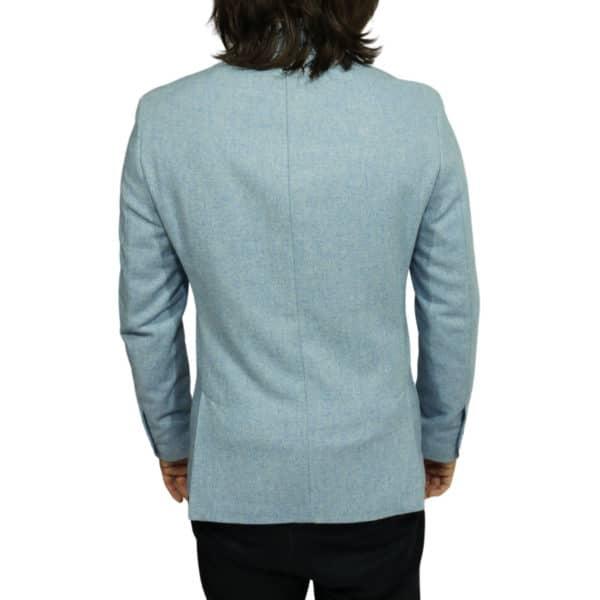 Maxim B blazer wool mix light blue back