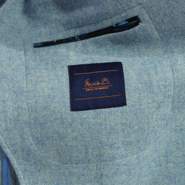 Maxim B blazer wool mix light blue inside pocket