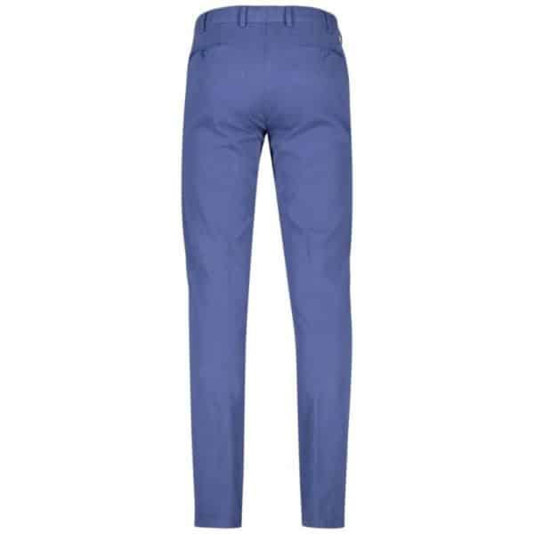 Meyer Bonn Blue Cotton Chinos back