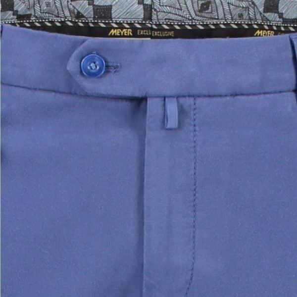 Meyer Bonn Blue Cotton Chinos front