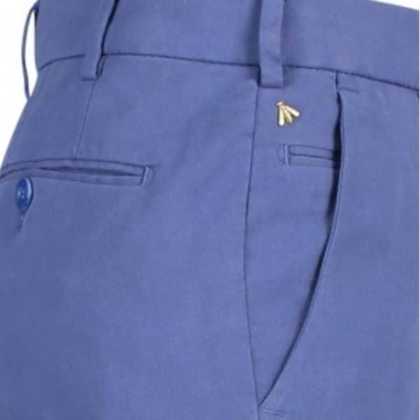 Meyer Bonn Blue Cotton Chinos side