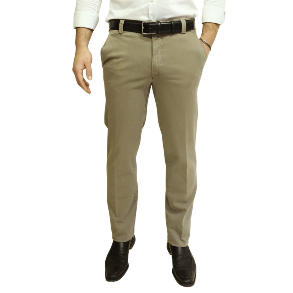 Meyer New York Cotton Camel Chinos front