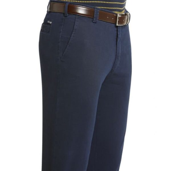 Meyer New York Navy Cotton Chinos