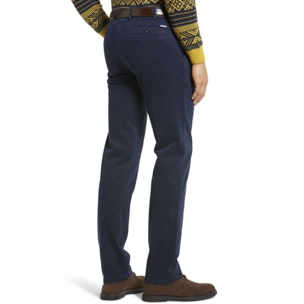 Meyer New York Navy Cotton Chinos back 1