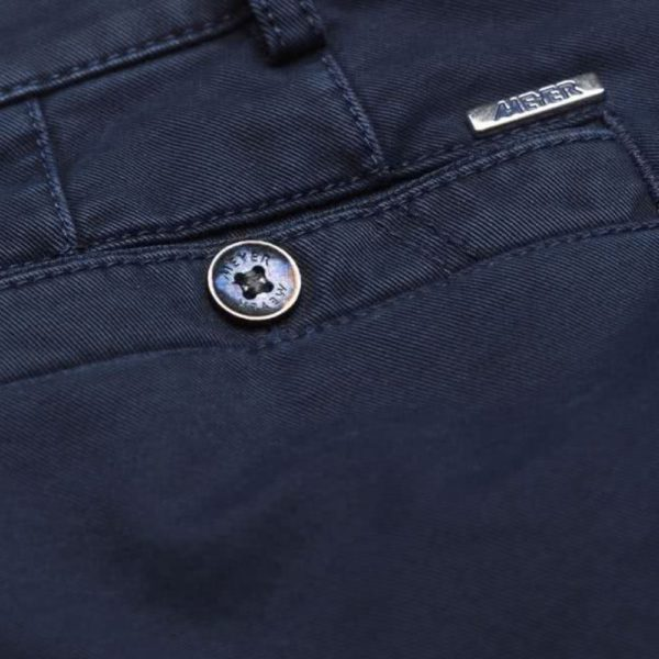 Meyer New York Navy Cotton Chinos back detail