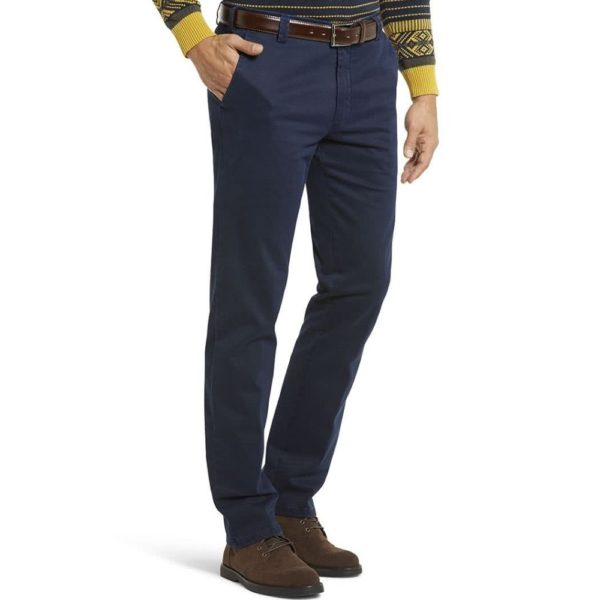 Meyer New York Navy Cotton Chinos front