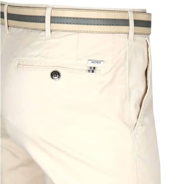 Meyer Rio Cream Cotton Chinos back detail 1