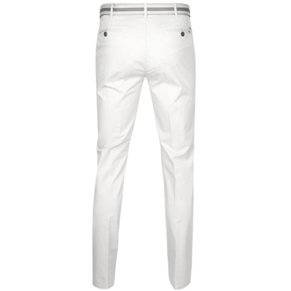 Meyer Rio White Cotton Chinos back