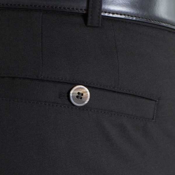 Meyer Roma Black wool chino back pocket