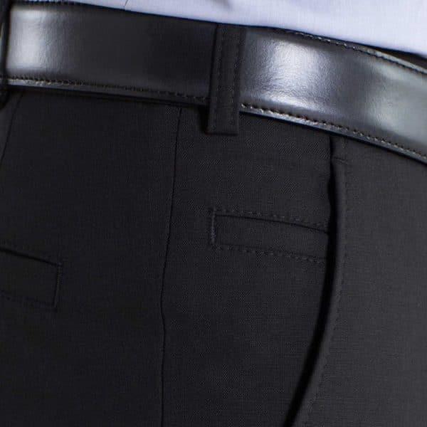 Meyer Roma Black wool chino side pocket