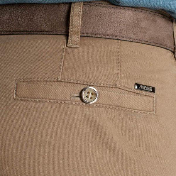 Meyer Roma Camel Cotton Chinos Back Pocket 1