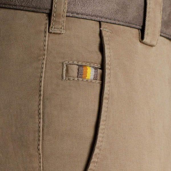 Meyer Roma Camel Cotton Chinos Pockets 1