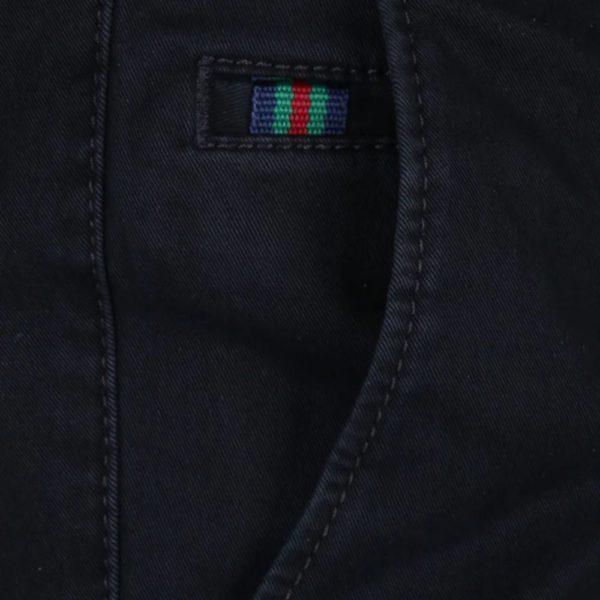 Meyer Roma Dark Navy Cotton Chinos 3
