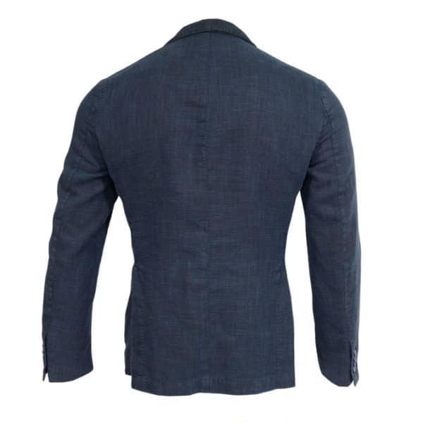 Navy blazer manuel ritz slub jacket back