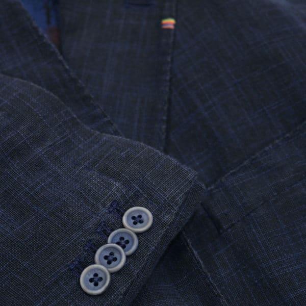 Navy blazer manuel ritz slub jacket button detail