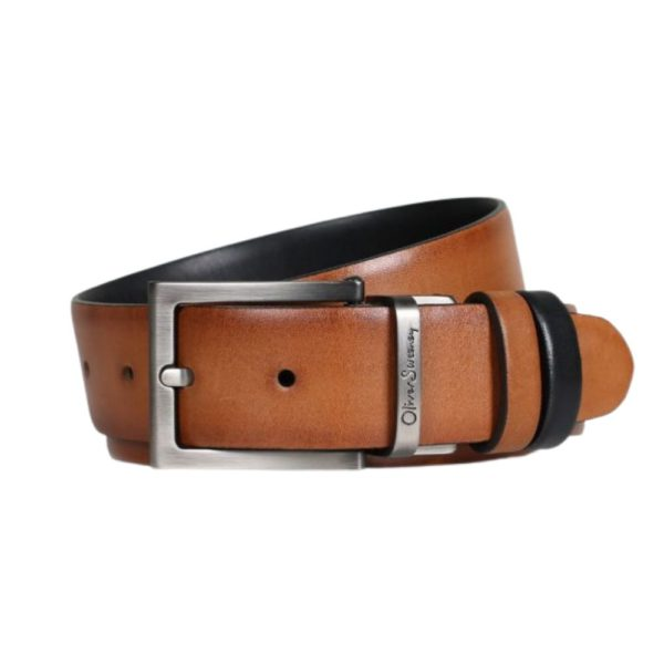 OLIVER SWEENEY MALMSEY BLACK DARK TAN BELT1