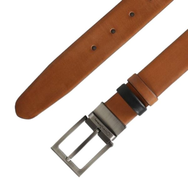 OLIVER SWEENEY MALMSEY BLACK DARK TAN BELT2