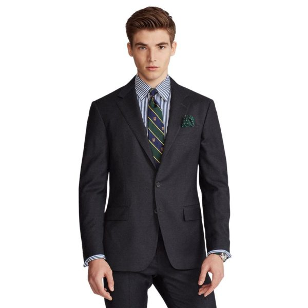 POLO RALPH LAUREN WOOL TWILL SUIT CHARCOAL4