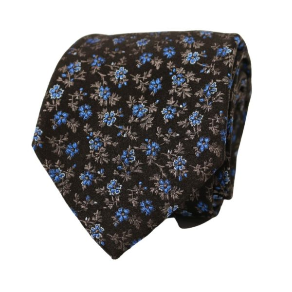 Paul Smith Floral Embroidery Tie 2