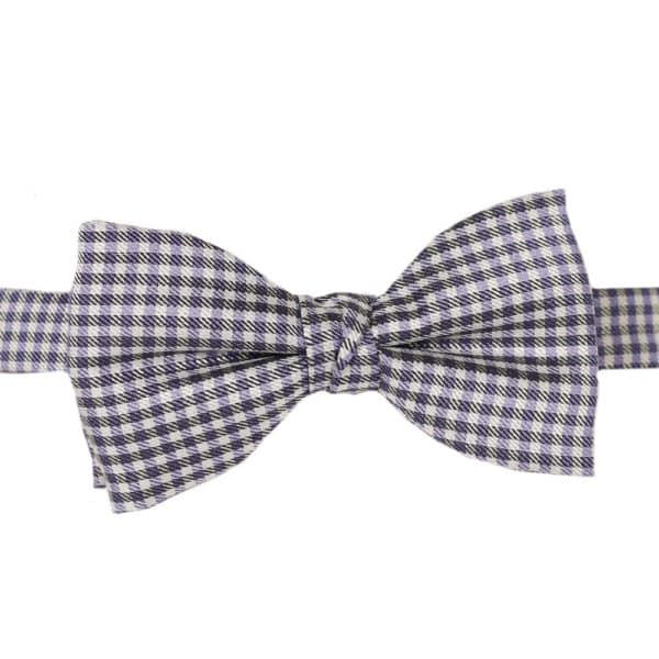 Purple checkered bow tie warwicks1