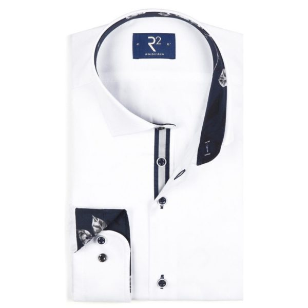 R2 SHIRT REFLECTIVE PIPING TRIM WHITE