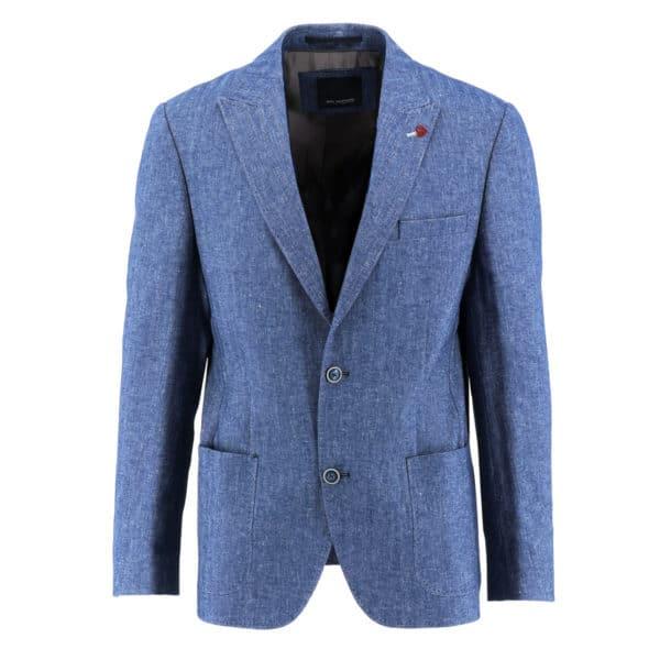 ROY ROBSON Linen blazer jacket blue