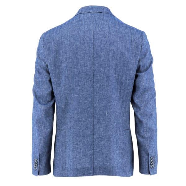 ROY ROBSON Linen blazer jacket blue back