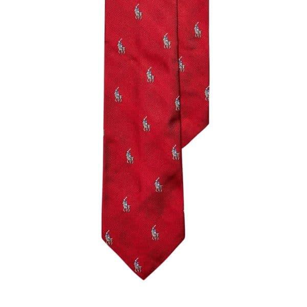Ralph Lauren Polo Pony Tie red 2