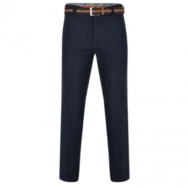 Rio Cotton Navy Chinos Front 1