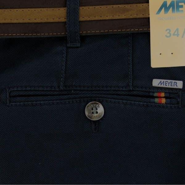 Rio Cotton Navy Chinos back pocket