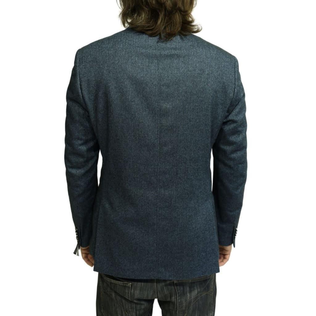 Roy Robson herringbone jacket navy back