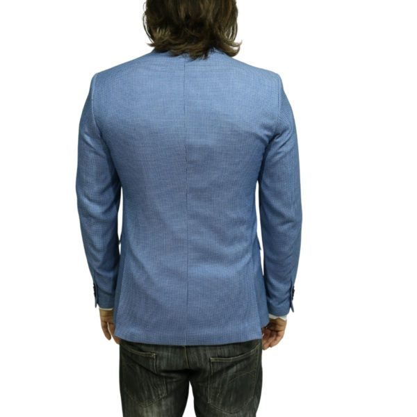 Roy Robson small check blue blazer jacket
