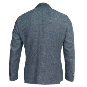 Roy Roybson blue blazer wool linen jacket back