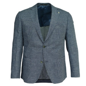 Roy Roybson blue blazer wool linen jacket front