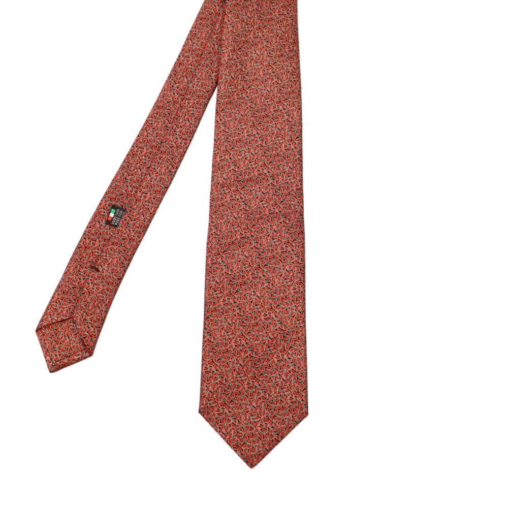 Silvio Fiorello Leaves Tie Orange 2