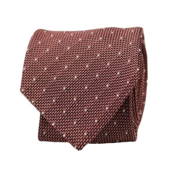 Silvio Fiorello Squares Tie Pink 1