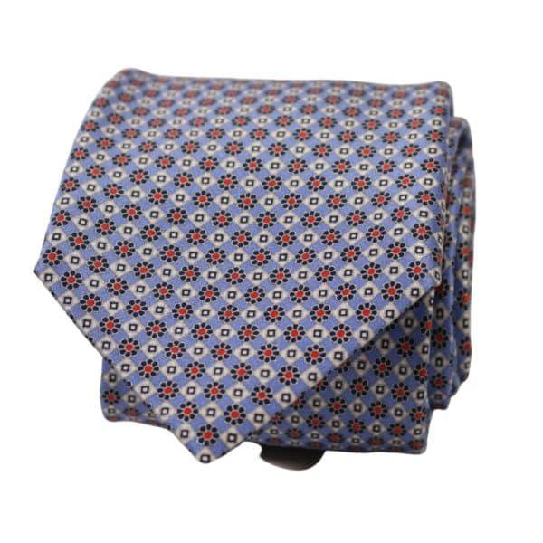Silvio Fiorello Tie Flower Diamond Tie Light Blue 1