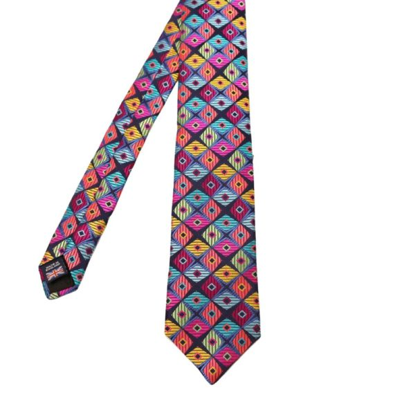 Van Buck Diamond pattern tie multi 1
