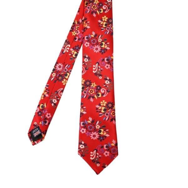Van Buck Flower Tie Red